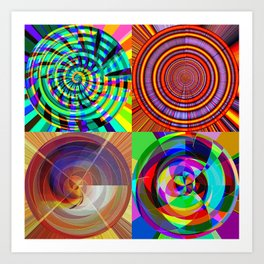 cloud, things, circles Art Print