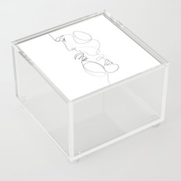 Lovers - Minimal Line Drawing Art Print 2 Acrylic Box