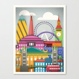 Touristique - London Canvas Print