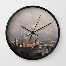 Wawel from above Wall Clock