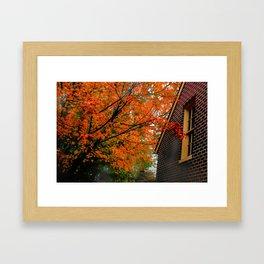 Autumn at the Window Framed Art Print