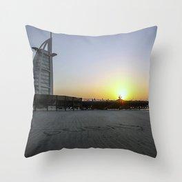 Sunset at the Burj al Arab Throw Pillow