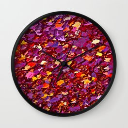 Forest Floor in Autumn Wall Clock