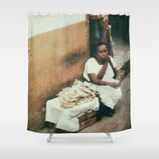 Mexican Street Vendor Shower Curtain