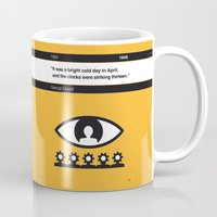 1984 Mugs featuring No008 MY 1984 Book Icon poster by Chungkong