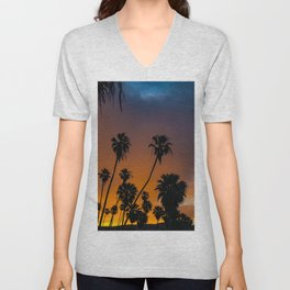 Blazing Sunrise in Laguna Beach Unisex V-Neck