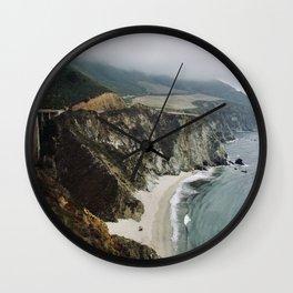 Bixby Bridge and Beach, CA Wall Clock