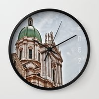 italy Wall Clocks featuring Italy by LaiaDivolsPhotography