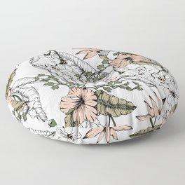 Tropical pattern pastel Floor Pillow