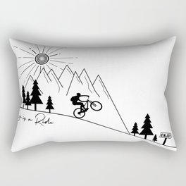 cycling mountain bike mountainbike cyclist bicycle MTB gift Rectangular Pillow