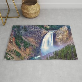 Lower Falls Yellowstone National Park United States Ultra HD Rug