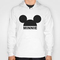 minnie mouse Hoodies featuring MINNIE by ilola