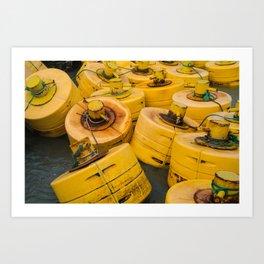 Yellow gathering Art Print
