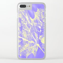 Eco botanical print in yellow - purple Clear iPhone Case