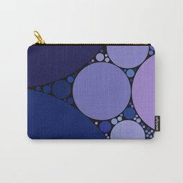 sophia - shades of purple blue with black outline abstract design Carry-All Pouch