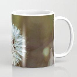 White Stringy Ball Flower  Coffee Mug