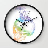 mushroom Wall Clocks featuring Mushroom by dogooder