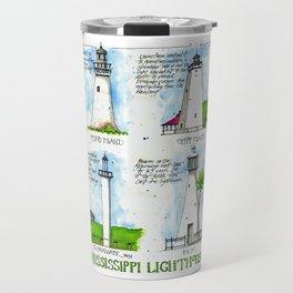 Mississippi Lighthouses Travel Mug