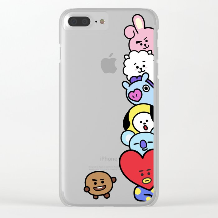 best sneakers 7e79a 609e1 BT21 Stacked Clear iPhone Case by imgoodimdone