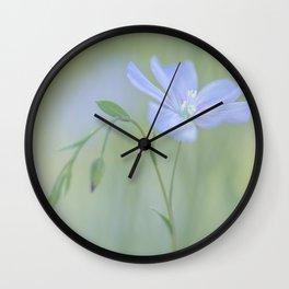 Blue Flax Wall Clock