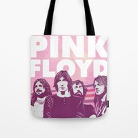 floyd Tote Bags featuring Pink Floyd by jnk2007