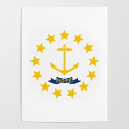 Rhode Island State Flag Poster