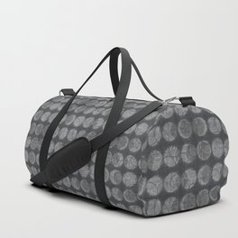 Solar Eclipse Swirls Geometric Pattern – Grey Duffle Bag