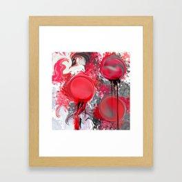 Spilled Paint Abstract Framed Art Print