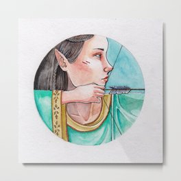 archery princess Metal Print