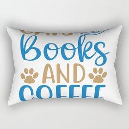Cats Books & Coffee Rectangular Pillow