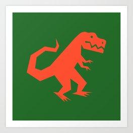 Simplesaurs: T-Rex Art Print