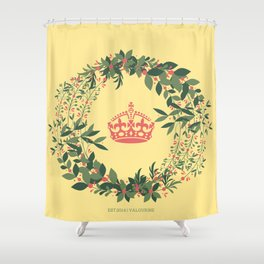 The Crown Flower Shower Curtain