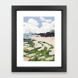 Jeju beach Framed Art Print