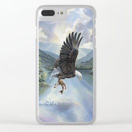 Eagle with Fish Clear iPhone Case