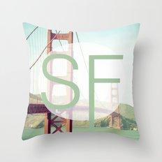 San Francisco Love Throw Pillow