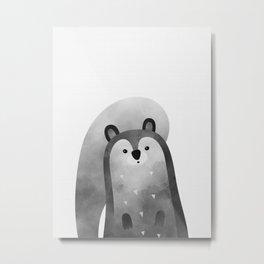 Squirrel Print Metal Print