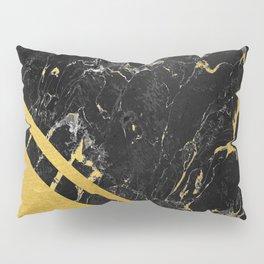 Gold Corner Black Marble Pillow Sham