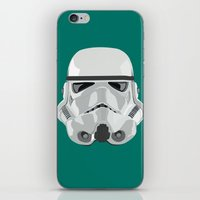 storm trooper iPhone & iPod Skins featuring Storm Trooper by Inza Vita