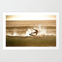 Joel Parko Parkinson Late Afternoon Surf, Hossegor- France - 2013 Art Print