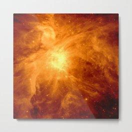 Golden Copper Orion Nebula Metal Print