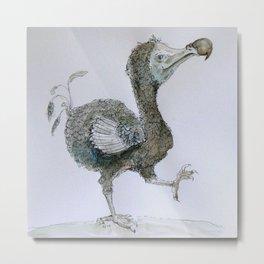 Dancing Dodo Metal Print