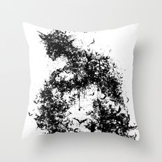 A Dark Cave Throw Pillow