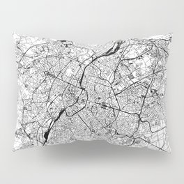 Brussels White Map Pillow Sham