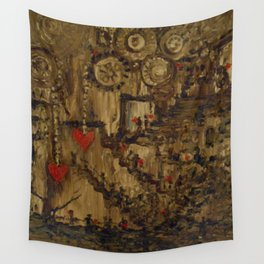 Steampunk Manufactured Love Wall Tapestry