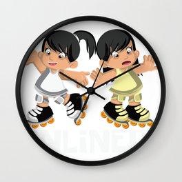 Inline fun sport beginner professional family gift Wall Clock