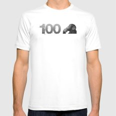 100th Monkey MEDIUM Mens Fitted Tee White