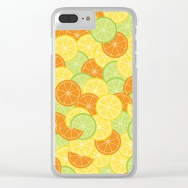 Citrus Carnival Leafless Clear iPhone Case