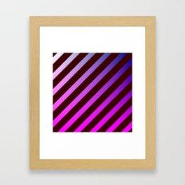 diagonal stripes pattern Framed Art Print
