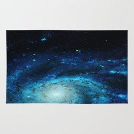 Teal Pinwheel Galaxy Rug