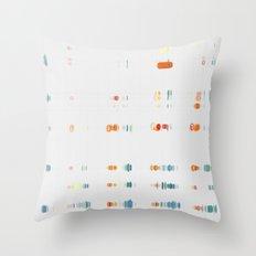 Fish Move Throw Pillow